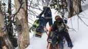 снегоход Polaris 850 PRO-RMK 155 3 2019 в движении