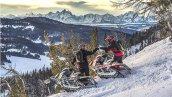 снегоход Polaris 850 PRO-RMK 174 2019 в движении