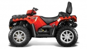 Квадроцикл Polaris Sportsman Touring 550 EPS Solar Red Вид сбоку