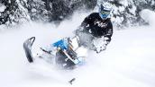 Снегоход Polaris 600 RMK 155 2014 В движении