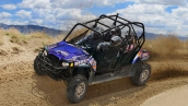 RZR 4 800 EPS Blue Fire/Orange LE В движении
