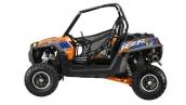 Polaris RZR XP 900 EPS Orange Madness/Blue LE Вид сбоку