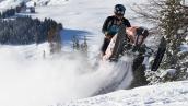 Снегоход Polaris 600 PRO-RMK 155 2015 В движении