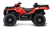 Polaris Sportsman X2 550 EPS Indy Red Вид сбоку