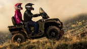 Квадроцикл Polaris Sportsman Touring 570 2015 В движении