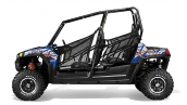 RZR® 4 800 EPS Blue Fire/Orange LE Вид сбоку