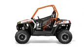 Мотовездеход Polaris RZR S 800 Orange/White LE Вид сбоку