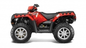 Polaris Sportsman 550 EPS Sunset Red Вид сбоку