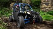 Polaris RZR S 800 EPS Stealth Black LE 2014 В движении