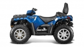 Квадроцикл Polaris Sportsman Touring 850 EPS 2014 Blue Fire Вид сбоку